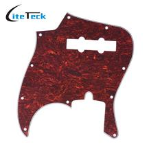 4Ply PVC JB Style Bass Pickguard Pick Guard Scratch Plate 10 Hole for American/Mexico Made Standard Jazz Bass