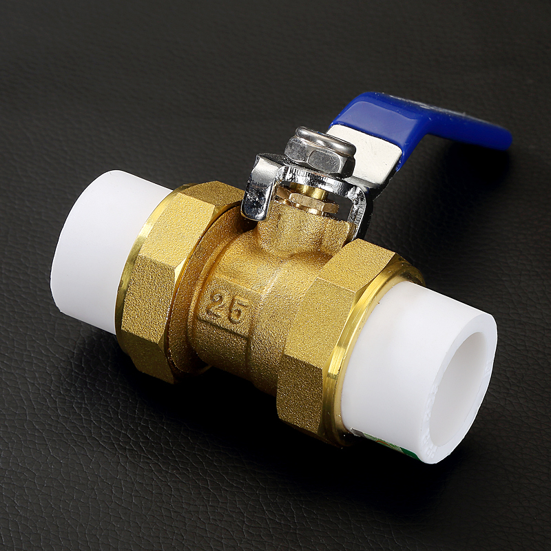 All copper PPR pipe fittings Double headed copper ball valve 25mm Hot melt pipe valve<br><br>Aliexpress