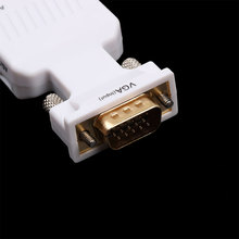 VGA Male to HDMI Female Converter Adapter 1080P HD HDMI Input Signal Audio Output Coaxial Black White