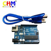 100pcs Rev3 Development Board For Arduino Uno R3 AT mega328P ATMEGA16U2 AVR+USB cable+reference PDF files #J024(China)