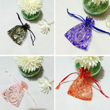 50pcs Organza Sachet Eyelash Decor Wedding Party Candy Jewelry Gift Pouch Bag