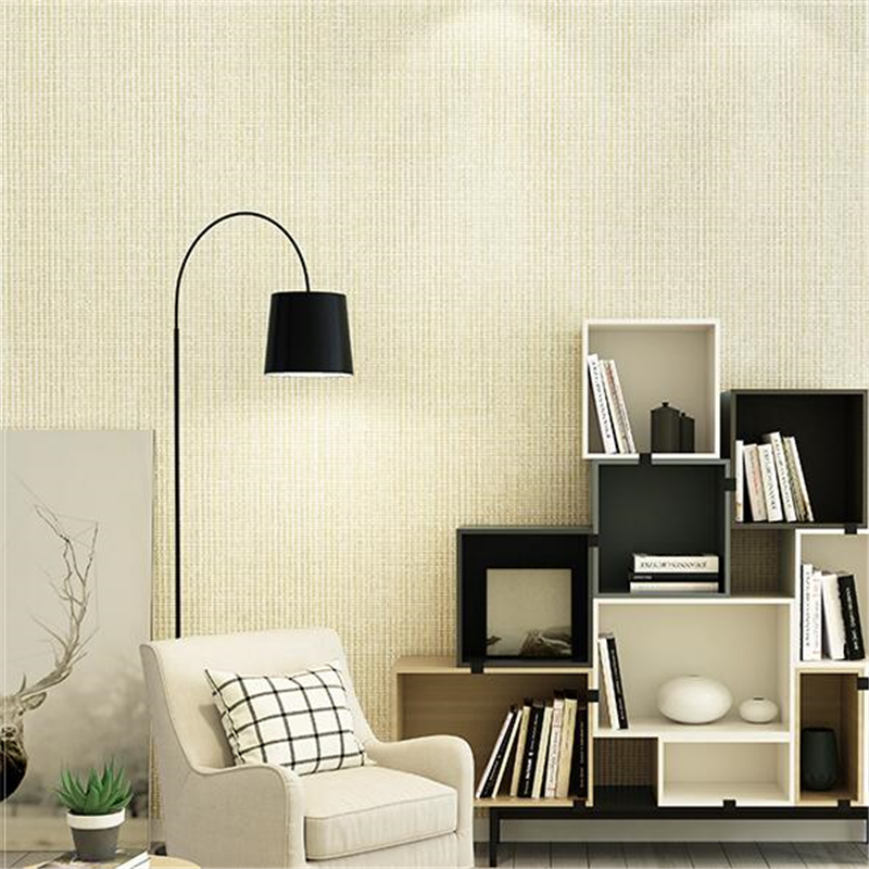 beibehang Simple modern non-woven solid color wallpaper living room bedroom study backdrop wallpaper Nordic restaurant wallpaper<br>