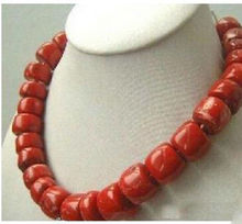 Free Shipping ***Hot sell ! New natural Red Coral Necklace large beads