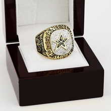 1999 Dallas Stars NHL Hockey Stanely Cup Championship Ring 10-13 size with cherry wooden case as a gift(China)