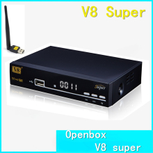 Openbox V8 Super DVB-S2 Satellite TV Receiver Support PowerVu Cccamd Newcamd Youtube Youporn Biss Key USB Wifi Set Top Box