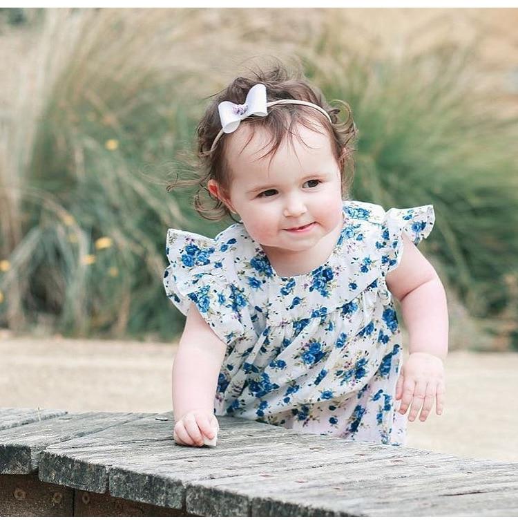 Mother nest 2018 Summer New Girls Flower Puff Sleeves Dress Cotton Children Kids Clothes Toddler Baby Birthday Kids Dresses (24)