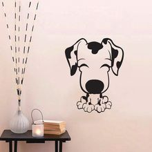 ZUCZUG Large 55*70Cm/21*27in Black 3D DIY Dog PVC Wall Decals/Adhesive Family Wall Stickers Mural Art Home Decor(China)