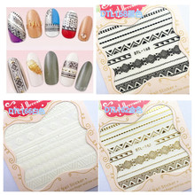 3 COLORS minzuline2 TYPE 3D 2016 newest nail art stickers decal stamping seal nail tools  3D nail art sticker
