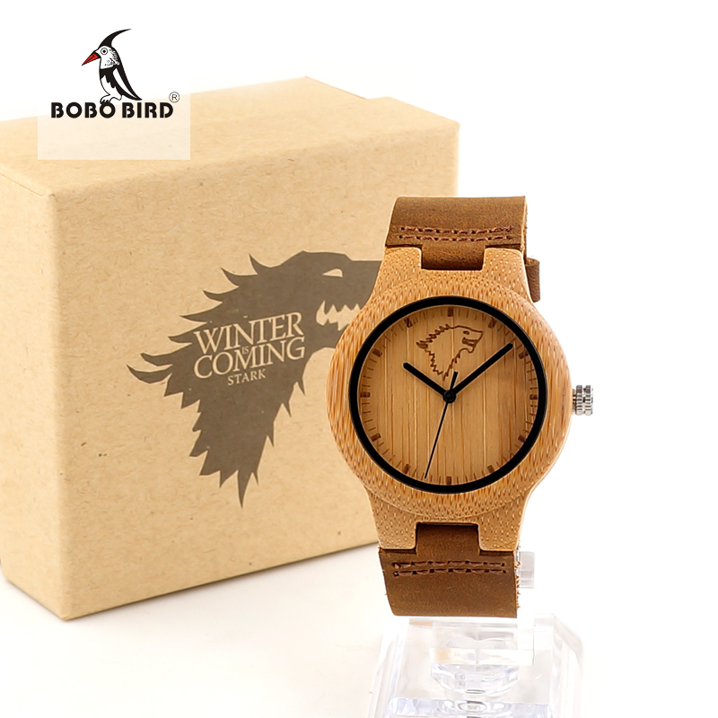 BOBO BIRD K04 Mens Womens Wood Watches Engrave Wolf Bamboo Dial Ladies Quartz Watch in Gift Box montre femme marque de luxe<br><br>Aliexpress