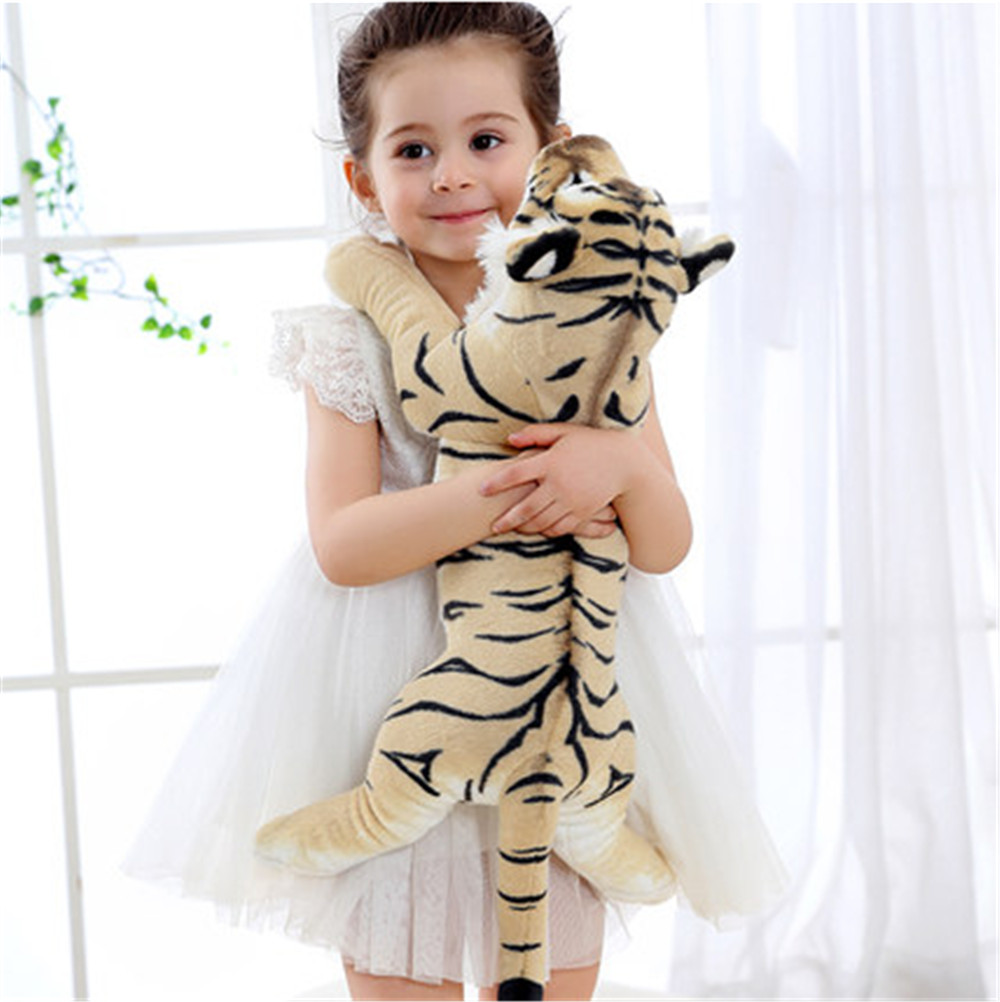 Fancytrader Soft Stuffed Animals Tiger Plush Toys Pillow Simulated Animal Baby Tiger Leopard Doll Brinquedo Toys For Children1