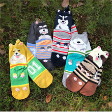 New arrival 3d cartoon socks Autumn winter fashion women's dog thermal sock ,high quality ladies casual dress animal socks(China)