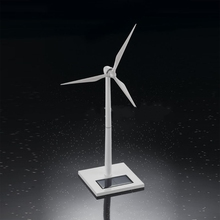 New Solar Windmill Toys Plastic Assembled Model 3D Puzzle Assembling Solar Powered Windmill Best Gift For Kids And Friends(China)