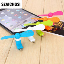 SZAICHGSI good quality Mini Portable Fan usb fans For iPhone 6s 6 / 6s Plus 5s 7 7plus wholesale 100pcs(China)
