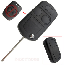 EKIY 2 Button Remote Key Fob Shell Case For Land Rover Freelander MK1 TD4 TD5 Modified Flip Car Key Case Rover Defender 1995
