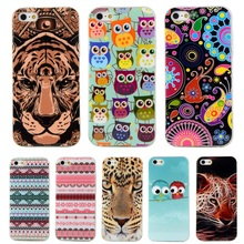 Coque For iphone 5 Case Mandala Flag TPU Soft Plastic Case For Apple iphone se 5S Case Owl Tower Back Cover Phone ShockProof Bag(China)