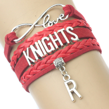Infinity Love Rutgers Scarlet Knights Team Bracelet Scarlet Red Custom Any Themes Bracelets - Drop Shipping(China)