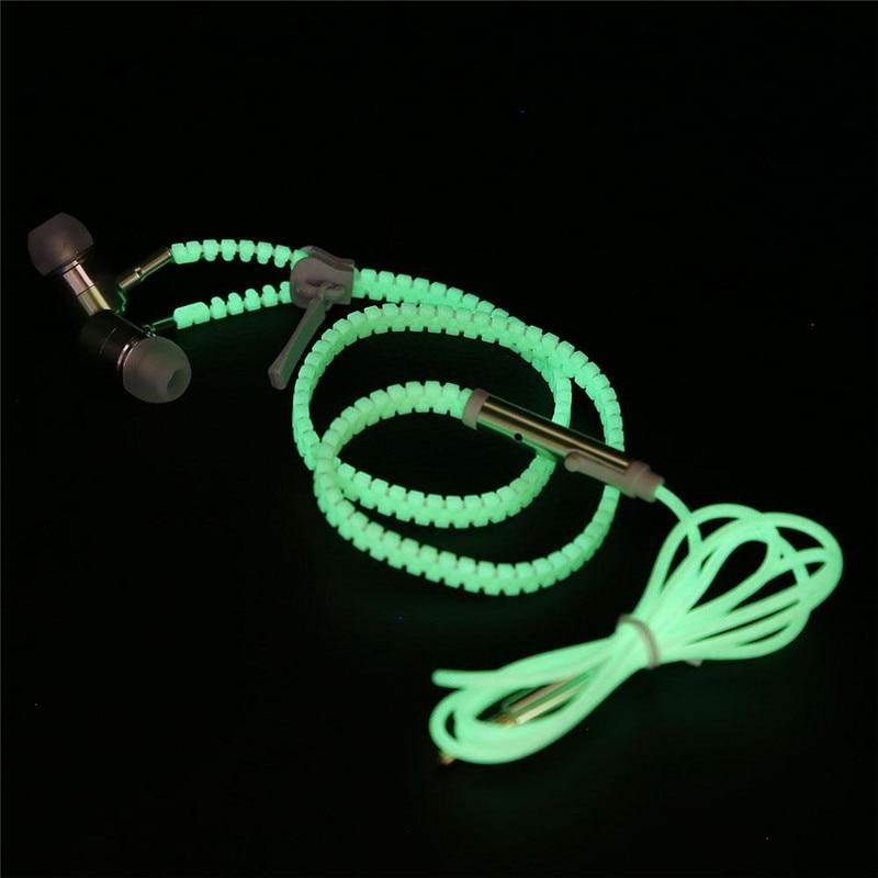 Night Luminous in dark drop Super Bass Earphone W/Microphone canalphone For Cellphone Mobile Phones<br><br>Aliexpress