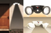 Cordless Battery Operated Motion Activated Night Eyes Dual Security Lights Dual motion-activated security lights