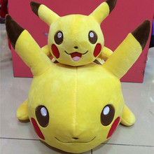 Christmas Toy Gift Hot Anime  Stuffed Toys Supply 7inch 12inch Lying Down Pikachu Model Plush Dolls Stuffed Animals Mouse