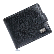 Hot Sale Crocodile Black Real Genuine Leather Bifold Clutch Wallets Mens Purses Coin Pouch ID Credit Cards Holder Dollar Package(China)