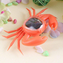 Hot Sale Novelty Creative ABS Crab Shaped Solar Power Toy Cute Lovely Trick Playing Toy Kids Educational Toy(China)
