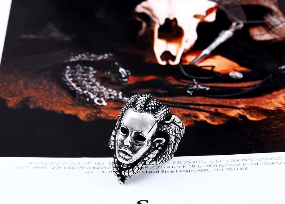 แหวนโคตรเท่ห์ Code 024 แหวน Medusa สแตนเลส4