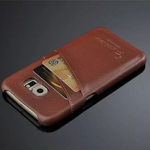 New For Samsung S6 Case Lichee Grain Phone Bag Back Cover with Card Slots Dermis Cowskin Leather Phone Case Free Shipping(China)
