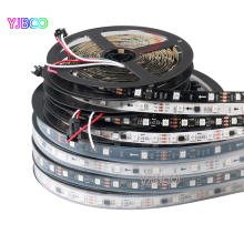 DC12V WS2811 led strip 5m 30/48/60 leds/m,White/Black PCB, 2811 led Addressable Digital strip light(China)