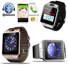 2017 hot item Cheapest Camera Digital dz09 Bluetooth Sports Wrist Watch Cell Phone for Huawei(China)