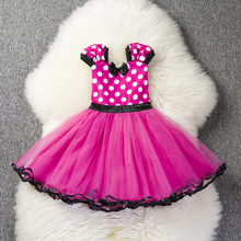 1 Year Birthday Party Dress for Girls Fancy Newborn Baby Girl Dress Cartton Mouse Dress Baptism Clothes Infant Christening Gowns(China)