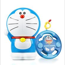Doraemon intelligent remote control machine doll story Simple operation resistance to fall off playing children's toys(China)
