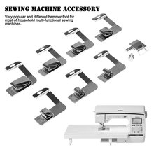 "8Pcs Sewing Machine Rolled Hammer Foot Presser Foot Spare Parts Accessories 2/8'' 4/8"" 5/8"" 6/8"" 7/8'' 8/8"" For Brother Singer(China)"