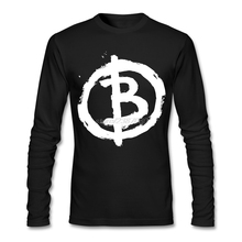 Bitcoin Anarchist T Shirts Youth Pre-cotton Crazy T-Shirt Design Full Man Hot Selling Tee Shirt(China)