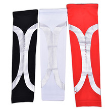 Hot High Elastic Quick Dry Dwight Howard Sport Elbow Arm Warmers Pad Long Arm Sleeve Support Basketball Newest Arrive(China)