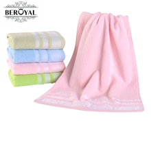 New 2017 Brand Towels 2PC 34*75cm(13''*30'') 100% Cotton Towels Hand Towel Stripe Face Cloth Adult Towels Bathroom 010023