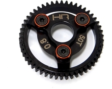 Hotracing HR light weight top gear red 52t metal spur gear for 1/10 Traxxas electric stampede rustler 2wd slash series trucks(China)