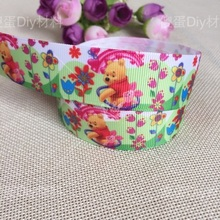 1'' (25mm) New 5 yards Wide Winnie The Pooh Ribbons Accessories Ribbon Clothing Materials free shipping(China)