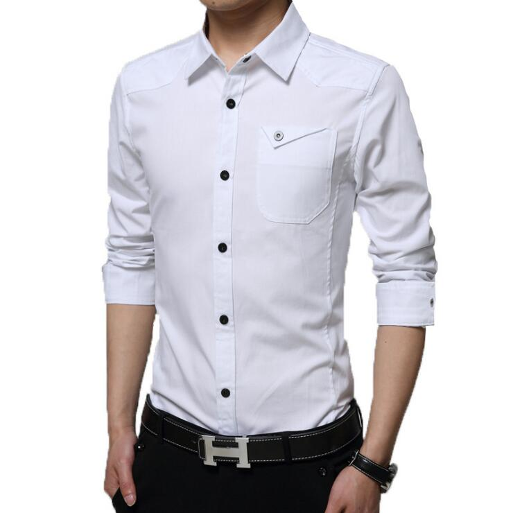 Famous Camisa Male Shirts Long Sleeve Men Shirt Fashion Casual Business Formal Shirt Chemise Homme Autumn Brand Clothing (14)