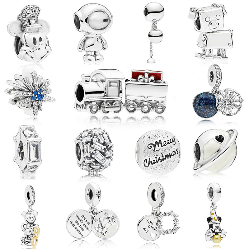 Radiant Hearts Warm Cocoa Fireworks Christmas Charm Bead Fit Pandora Bracelet Bangle Authentic 925 Sterling Silve Jewelry Professional Design Beads & Jewelry Making