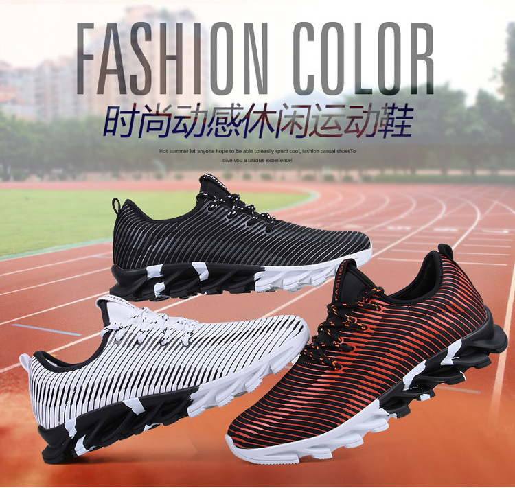 17New Hot Light Running Shoes For Men Breathable Outdoor Sport Shoes Summer Cushioning Male Shockproof Sole Athletic Sneakers 4