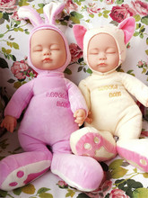New Baby talking doll toys Baby Reborn Doll Soft Vinyl Silicone Lifelike Newborn Baby sing songs Girl Gift bonecas brinquedos(China)