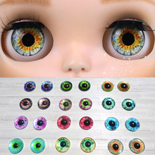 12 Pairs/Lot 12 Colors 14mm Handmade Glass Eye Chips Dolls Accessories For Blyth Doll Eye Accessories For DIY Modified(China)