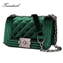 Trenadorab Velour Crossbody bag Women Bag Luxury Women Handbags Purse Designer Brand Ladies Chain Velvet Shoulder Messenger Bags(China)