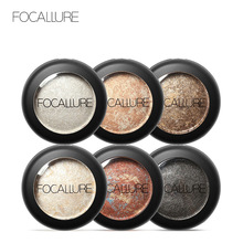 FOCALLURE 10 Colors Baked Eyeshadow Eye shadow Palette in Shimmer Metallic Eyes Makeup Cosmetics Tools(China)