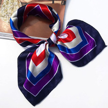 19 Colors High Soft Silk Square Scarf Scarves Bandanas Head Wrap Shawl Satin Stewardess(China)