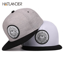 Classic 5 panels cotton snapback 3d god eyes plastic patch mens flat brim baseball cap hip hop hat and cap for men and women(China)