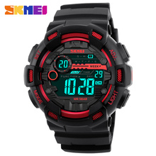 SKMEI Fashion Double Time Multifunction Digital Watch Men LED Swimming Waterproof Outdoor Sport Dress Men Student Wristwatches