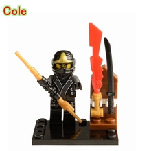 Cole DIY Blocks Single Sale Ninjago Elemental Master Super Heroes Models & Building Toys Children XH044 - Mailackers Store store
