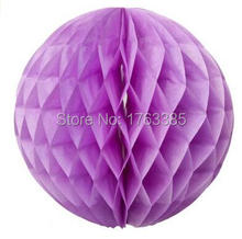 Pack of 3 Mixed 2 Sizes Paper Honeycomb Ball Lantern Wedding Birthday Party Hanging Decoration (Lavender)(China)
