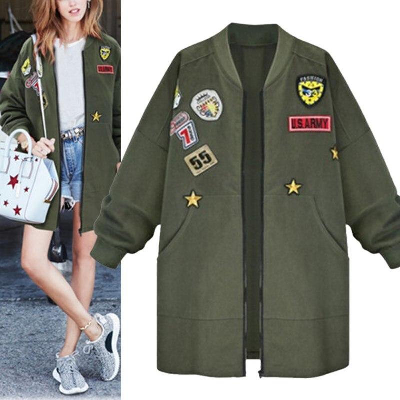 Plus Size Coat Female Down Jacket Winter Jacket Women Bomber Spring Tops Long Sleeve Slim Army Green Outwear Women BaseballОдежда и ак�е��уары<br><br><br>Aliexpress